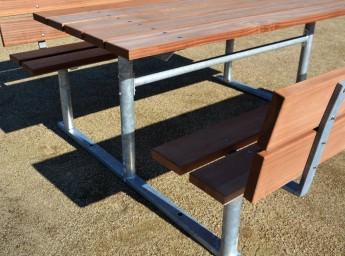 bord bænkesæt med ryg