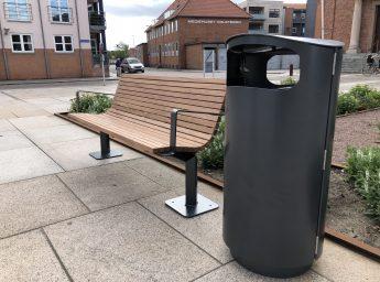 Jessing Odin Bænk og affaldsbeholder